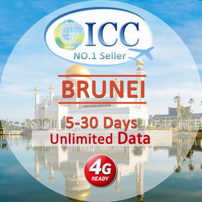 ICC◆ ICC◆【Brunei Sim Card· 5/15/30 Days】❤2 5GB/5GB/15GB 4G LTE/3G +  Unlimited data ❤ Plug and Use