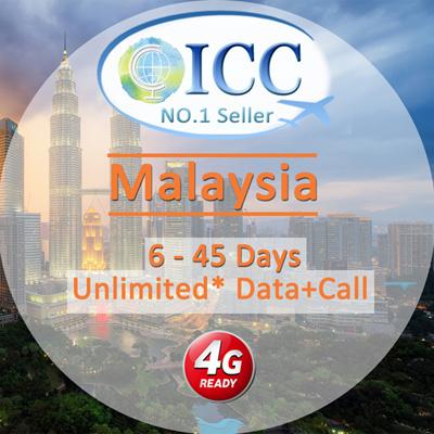 ICC◆ICC◆【Malaysia SIM Card·6-45 Days】Maxis/Celcom❤4G Unlimited  data+Call(Local Malaysia SIM)❤