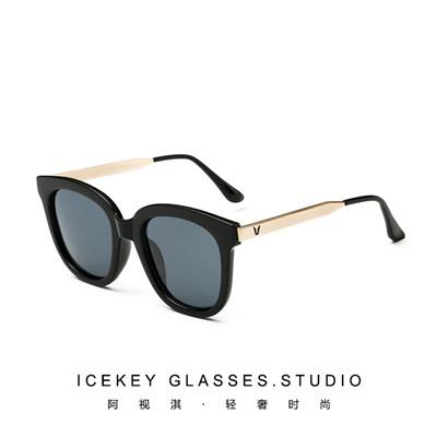 4b2400bc87 Qoo10 - ICEKEY Yang Yan Tang star sunglasses woman film polarized glasses  roun...   Fashion Accessor.
