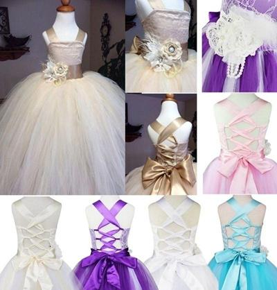 0e848e883 Qoo10 - iEFiEL Flower Girl Dress Lace Formal Princess Pageant ...