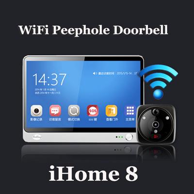 Outstanding Ihome 8 Wireless Video Door Phone Smart Wifi Peephole Doorbell Intercom 7 Inch Tft Capacitive Lcd Download Free Architecture Designs Rallybritishbridgeorg