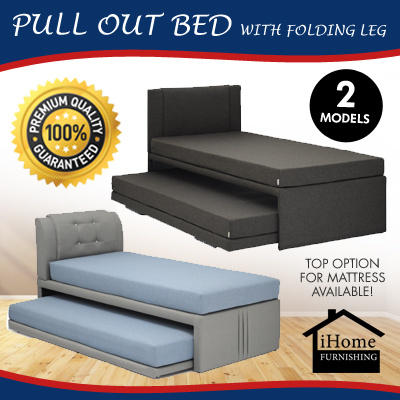 9c53b20babe9 Qoo10 -  iHome Furnishing  PULL OUT BED WITH FOLDING LEG - 2 Models   Top Up  O...   Furniture   Deco
