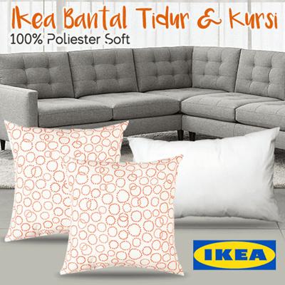 Bantal Kursi putih oranye IKEA TRADASTER /Bantal Tidur empuk IKEA SLAN