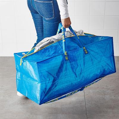 Qoo10 Ikea Frakta Storage Bag Extra Large Blue