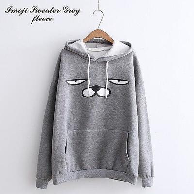 Qoo10 - Imoji Sweater    Jaket Hoodie    Sweater Wanita   Pakaian 5991001066