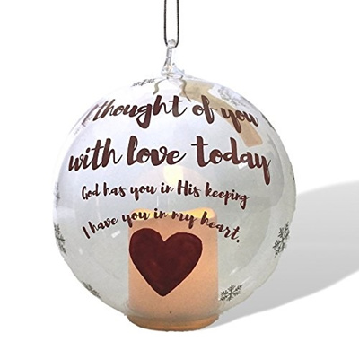 Qoo10 In Loving Memory Ornament Led Glass Ball Ornament With