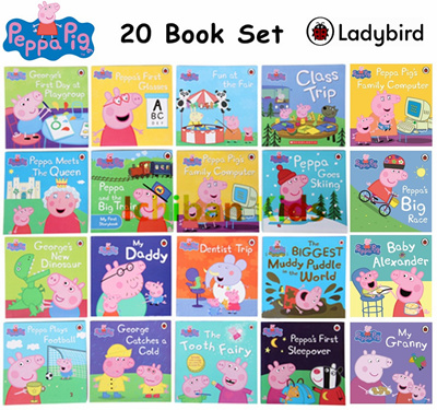 In Stock 20 Ladybird Peppa Pig Story Book Set Early Education Enrichment English For 1 7 Years