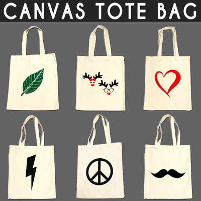 Korean Style Cotton Canvas Tote Bag   Extra Thick   Eco   Recyclable Bags 37464c2d21
