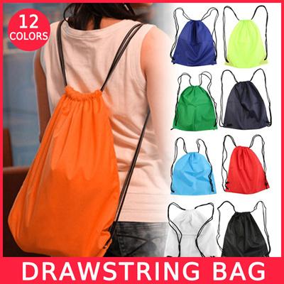 12 Colours WATERPROOF BAG DRAWSTRING BACKPACK GYM PE BAG