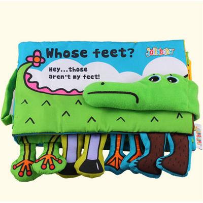 qoo10 infant activity book cartoon animal crocodile soft baby