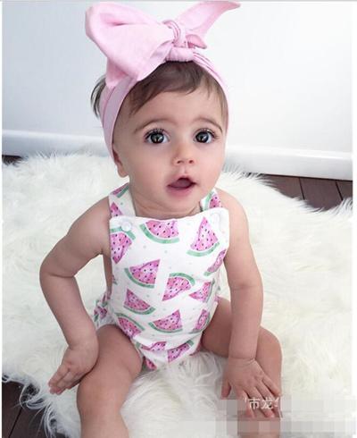 5586bf9c3802 Qoo10 - Infant Baby Girl Watermelon Romper Bodysuit Sunsuit Jumpsuit Outfit  Se...   Kids Fashion