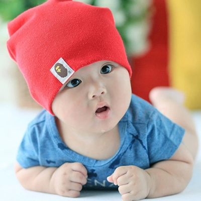 Infant Keep Warm Adjustable Elastic Cap Knitted Cotton Hat Baby set of Head  Cap Children Cap 3f0028ac2