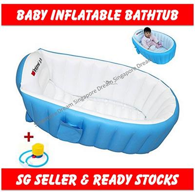 Qoo10 - Inflatable Baby Bath Pool / SPA Swimming Bathtub Extra Thick ...