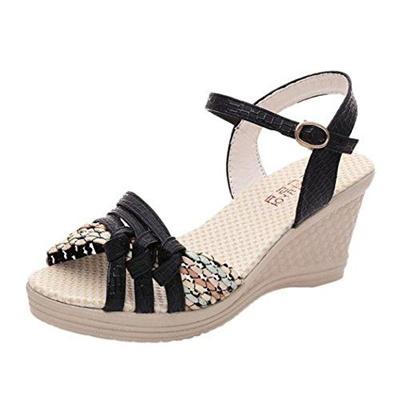 65861747596 Qoo10 - (Inkach) Women s Sandals DIRECT FROM USA Inkach Women Wedges Sandals  -...   Shoes