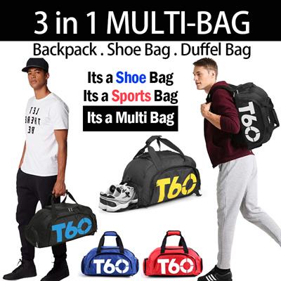 f9612015246e ♥3 in 1 MULTI SPORTS BAG♥ Backpack Shoe Bag Duffle bag Sports gym BAG
