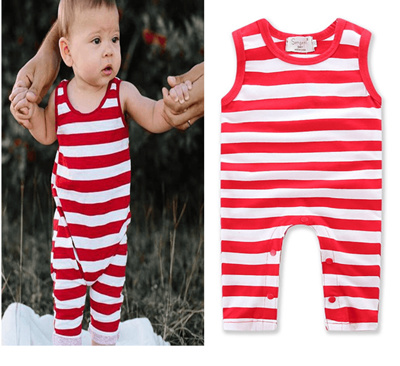 9b4df96a9c Qoo10 - Ins explosion models boys and girls baby red and white striped short-s...    Kids Fashion