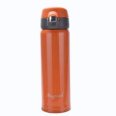 95ee14c737a6 Insulated Stainless Steel Vacuum Thermos Flask Best Travel Coffee Mug 16 Oz  ,Double Walled Leak Proo