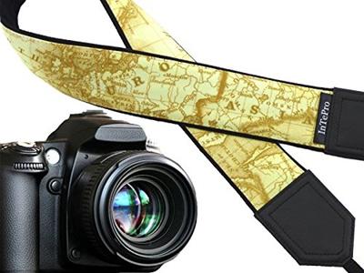 qoo10 intepro yellow map camera strap north america europe asia
