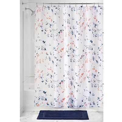 InterDesign Floral Fabric Batik Shower Curtain
