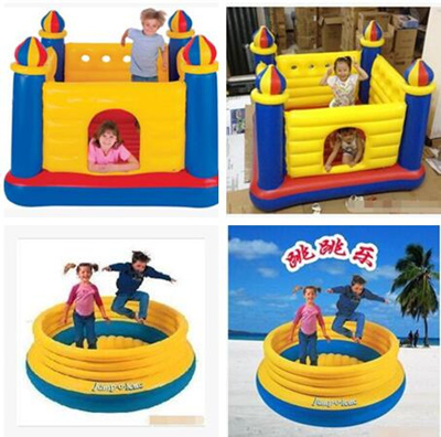 buy online 245ea 644fe Intex Inflatable Jump-O-Lene Castle Bouncer Ball Pit Playhouse Toy  childrens toys inflatable castle