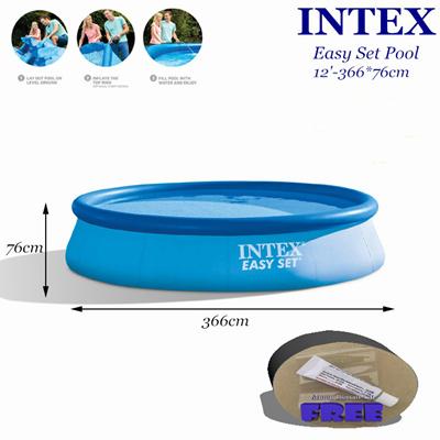 intex easy set pool. INTEX 12ftx30in Easy Set Pool*366x76cm*Above Ground Swimming Pool*Intex Magic Repair Intex Pool