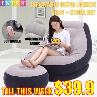 Qoo10 Intex Air Sofa Furniture Deco
