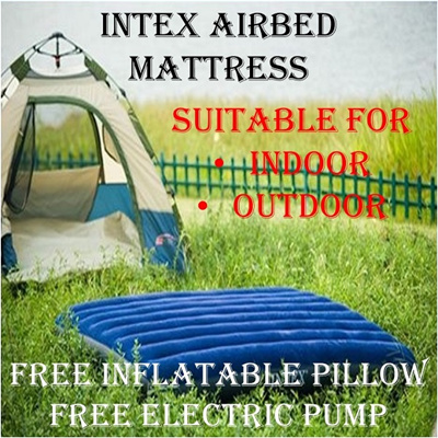 Qoo10 Ready Stocks In Sg Authentic Intex Airbed Mattress