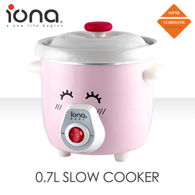 IONA 0.7L Baby Slow Cooker - Easy Baby Meals
