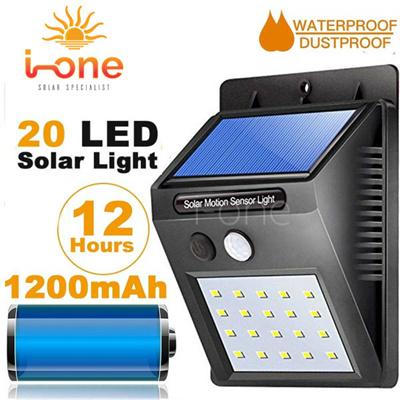 2d1ef6c72fb iOne Store Discount 20 LED Solar Powered PIR Motion Sensor Wall Light  Outdoor Waterproof Energy Saving Lamp