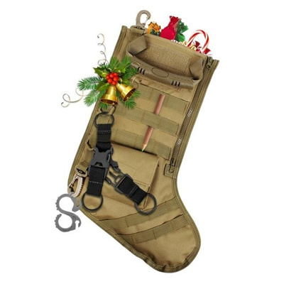 Tactical Christmas Stocking.Ipc New Tactical Christmas Stocking Pouch Storage Bag Outdoor Hunting Bag Christmas Storage Bag