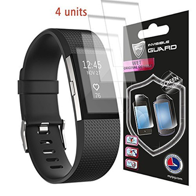 IPG Fitbit CHARGE 2 Watch Screen (4 Units) Invisible Protector Skin  Anti-Bubble / Ultra HD Clear Shi