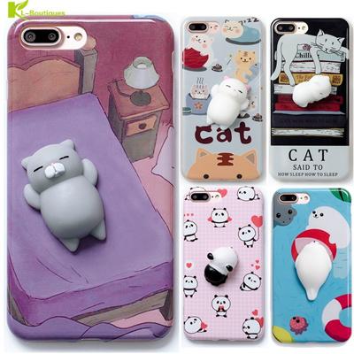 047e07c705 Qoo10 - iPhone 6 6S 6 plus 3D Cute Soft 3D Cartoon Silicone Panda Pappy Cat  Sq... : Mobile Accessori.