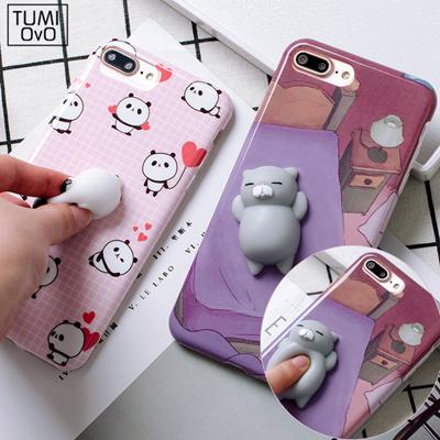 1f5764fa6c Qoo10 - iPhone 6 6S 7 Plus Phone Cases 3D Cartoon Cute Soft Silicone Squishy  P... : Mobile Accessori.
