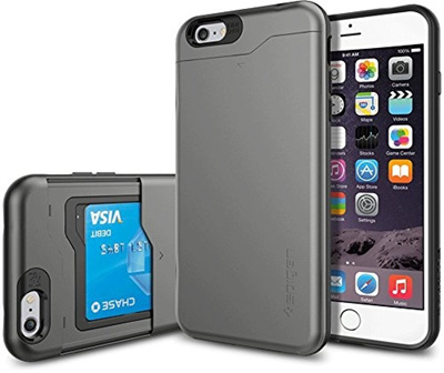 new arrival 170be fbe3b iPhone 6 Plus Case, Spigen [CARD SLOT] Slim Armor CS Case for iPhone 6 Plus  (5.5-Inch) - Gunmetal (SGP10910)