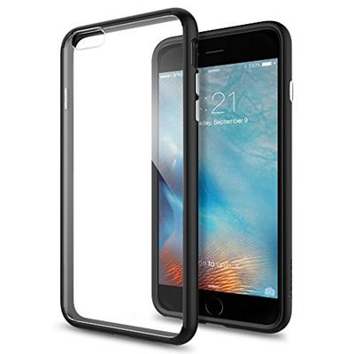 best service 72773 d1bef iPhone 6s Plus Case, Spigen® [Ultra Hybrid] AIR CUSHION [Black] Clear back  panel + TPU bumper for iPhone 6 Plus (2014) / 6s Plus (2015) - Black ...