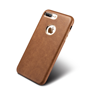 buy popular 77b23 de70d iPhone 7 6 6s Plus Phone Cases, Vintage PU Leather gold plated Slim Back  Case Cover Original XOOMZ
