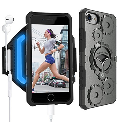 promo code 68a1f 8f7c6 iPhone 7/7 Plus Armband Armour Case Set-LOVPHONE Multifunctional Sport  Running Armband + Premium P
