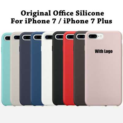 low priced e068e dc2be iPhone 7 High Quality Phone Cover Case Original 1:1 Copy Officeal Silicone  Case iPhone 7 Plus 7Plus