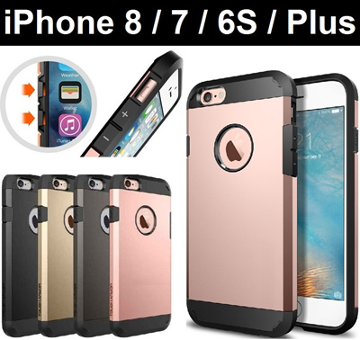 buy popular 1cc50 63f30 [Apple]★ iPhone 8 / 7 / 8 Plus / 7 Plus Tough Armour Case Case Casing Cover  Tempered Glass Screen Protector