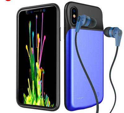 new concept bb349 dfe93 Iphone X/XS Power Bank Battery Charger Case Support audio
