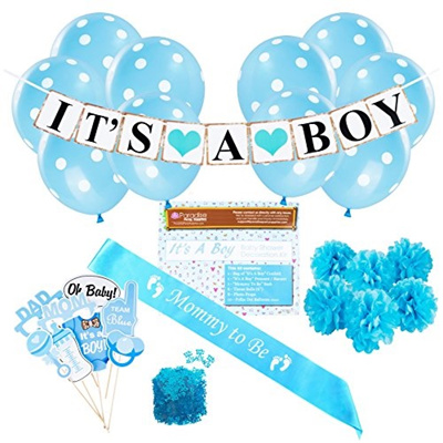 Qoo10 It S A Boy Baby Shower Party Decorations Kit It S A Boy