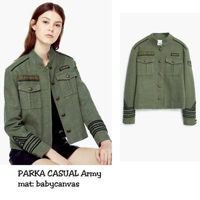 Qoo10 - Jaket Wanita    Jacket Bomber    Parka Casual Army   Pakaian 9ab74e547b