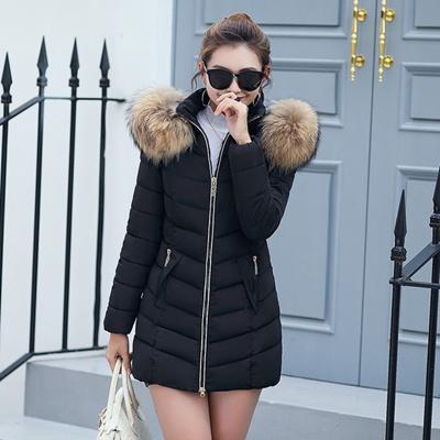 Jaket Wanita Winter Fashion Panjang Tebal Hangat Melepas Jaket Katun Slim  Coat Overcoat Parka 7a6fbab9da