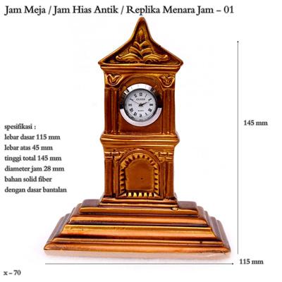 Jam meja   jam hias antik   replika menara jam   jam mini - 01 9a809b97d1