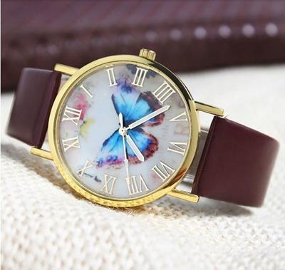 Qoo10 - Jam Tangan Wanita Fashion Import Butterfly Style Leather ... 314c09fbf0