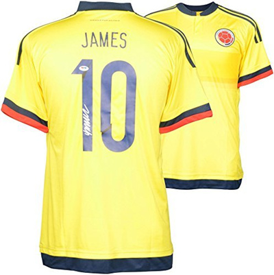 new products 4e1f9 10010 Qoo10 - James Rodriguez Colombia Autographed Yellow Jersey ...
