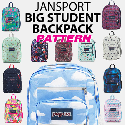 Jansport[JANSPORT] Original BIG STUDENT Pattern Backpack 16type school bag
