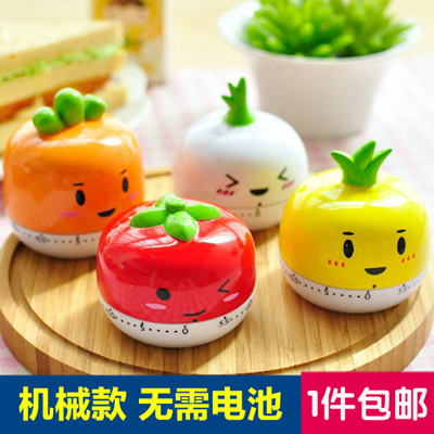 Japan Cute Kitchen Timer Alarm Clock Reminder Tomato Small Alarm Cooks Mechanical Countdown Timers