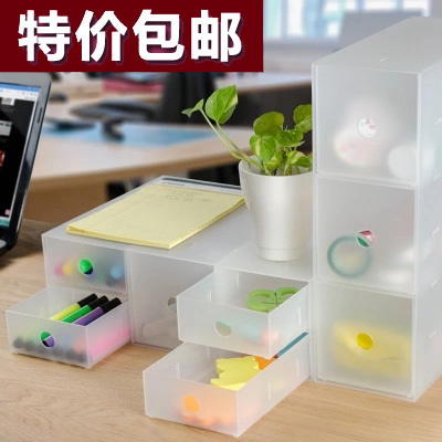 Qoo10 Japan Daiso Desktop Storage Box Transparent Pp