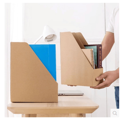 qoo10 - japan imported kraft paper desktop file storage box office paper file box